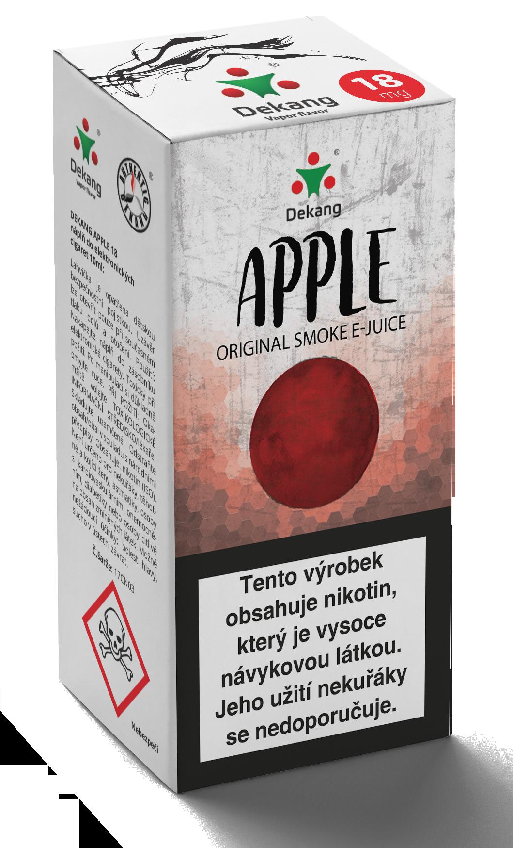 E-liquid Dekang 10ml Jablko - Apple Množství nikotinu: 0mg