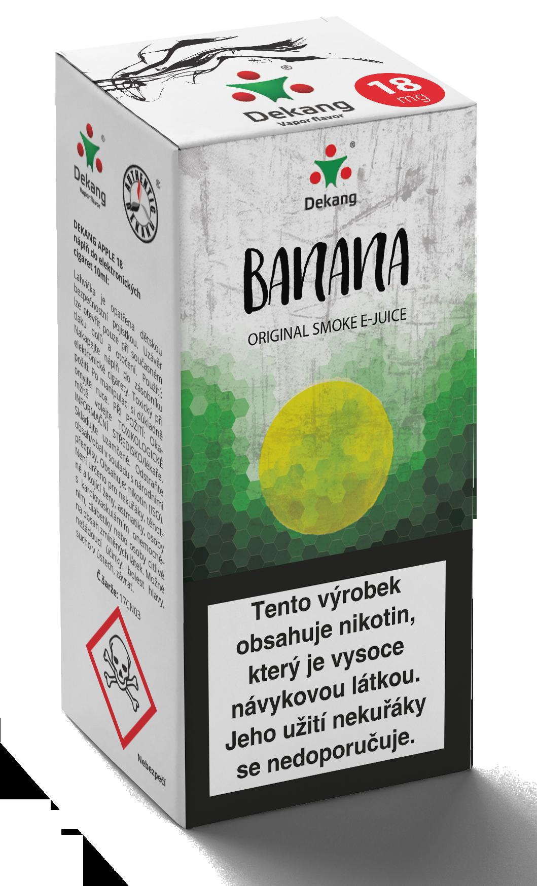 E-liquid Dekang 10ml Banán (Banana) Množství nikotinu: 0mg