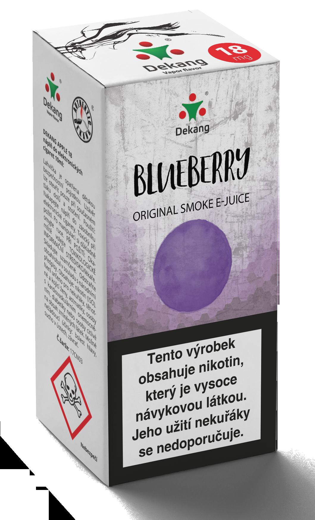 E-liquid Dekang 10ml Borůvka - Blueberry Množství nikotinu: 0mg