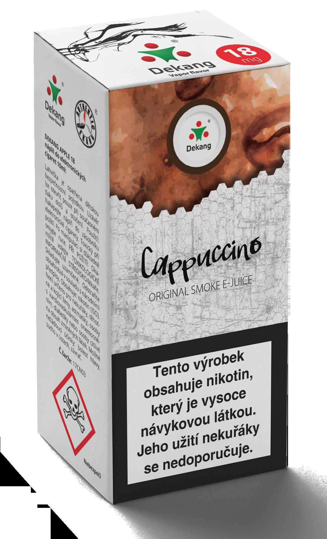 E-liquid Dekang 10ml Kapučíno - Cappuccino Množství nikotinu: 0mg