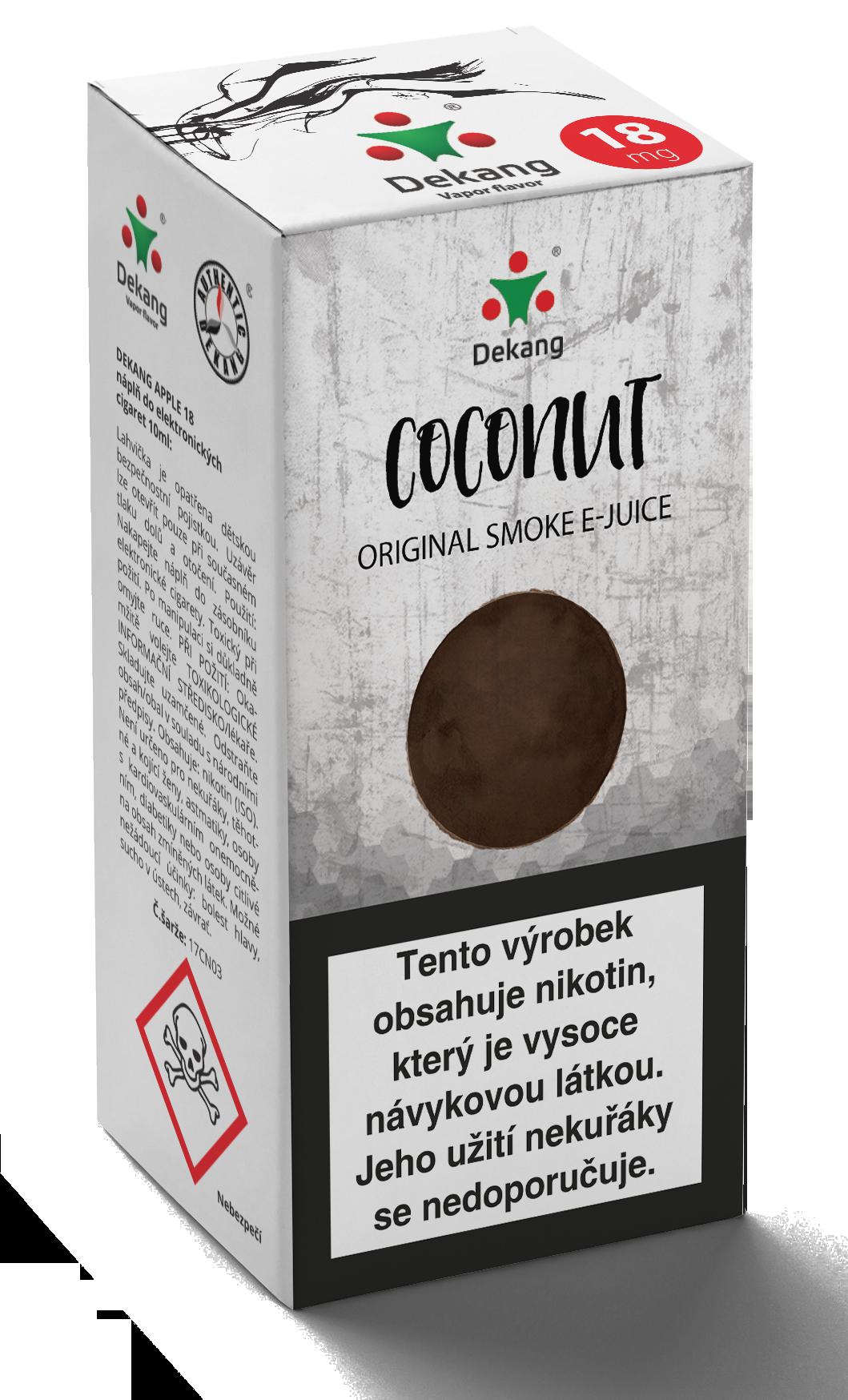 E-liquid Dekang 10ml Kokos -Coconut Množství nikotinu: 0mg