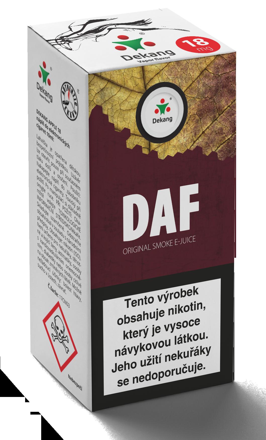 E-liquid Dekang 10ml Daf - doff Množství nikotinu: 0mg
