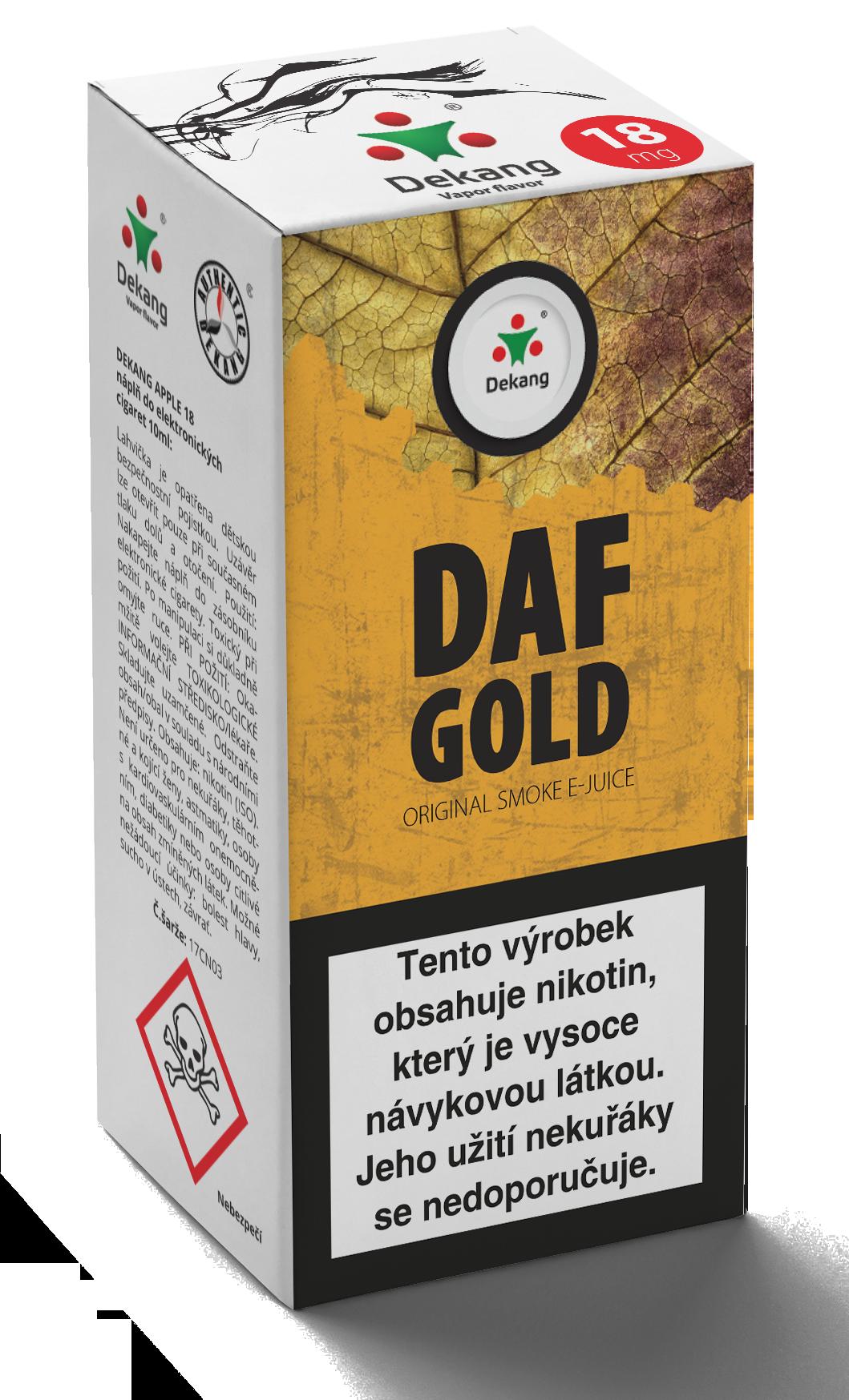 E-liquid Dekang 10ml Daf Gold Množství nikotinu: 0mg