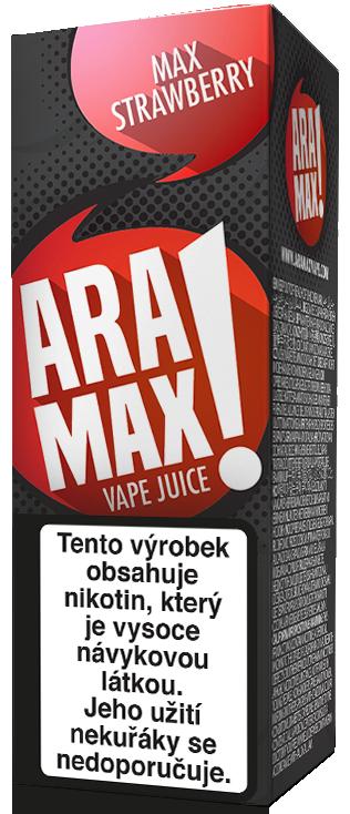 E-liquid ARAMAX Max Strawberry 10ml Množství nikotinu: 0mg