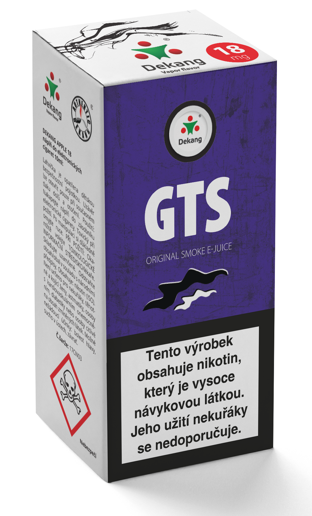 E-liquid Dekang 10ml GTS Množství nikotinu: 0mg