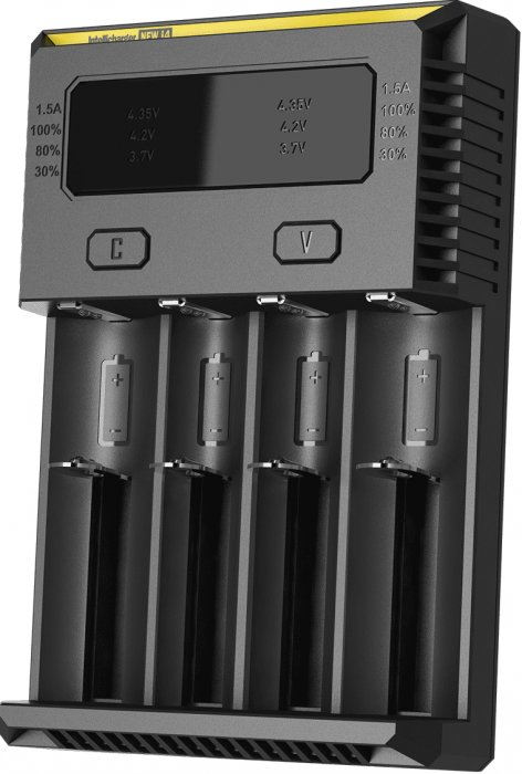 i4 Nitecore V2 - inteligentní nabíječka - 4 sloty