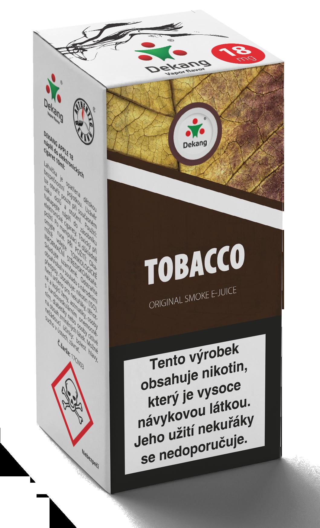 E-liquid Dekang 10ml Tobacco - tabák Množství nikotinu: 0mg